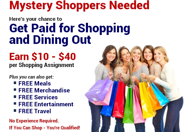 Become A Mystery Customer, Mystery Customers Needed